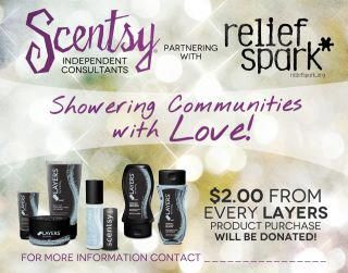 PLEASE LET ME KNOW IF YOU WOULD LIKE TO ORDER ANYTHING IN SUPPORT OF OUR HUGE FUNDRAISER TO BENEFIT RELIEF SPARK AND THEIR DISASTER RELIEF EFFORTS IN JOPLIN AND BRANSON MISSOURI!!  For Every Layer Product I will donate TWO DOLLARS.    www.michelleennis.scentsy.us/buy