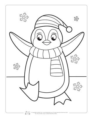 winter coloring pages penguin coloring
