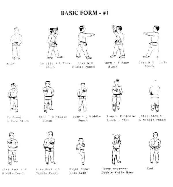 basic form 1.jpg (27363 bytes) | Tae Kwon Do | Pinterest | Martial