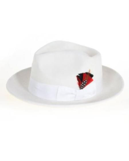 68819d93194 Men s Off White Fedora Hat  49.. Add a touch of style with one of our many  fantastic fedora hats. These fedoras are comfortable and stylish enough for  all ...