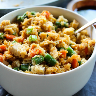 Chicken Fried Cauliflower Rice | Recipe | Chicken fried ...