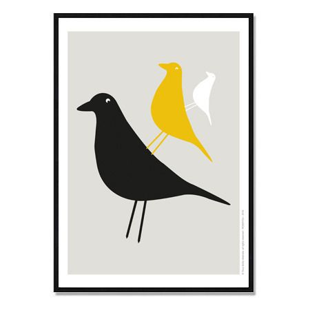 affiche inspiration scandinave oiseau a t l charger. Black Bedroom Furniture Sets. Home Design Ideas