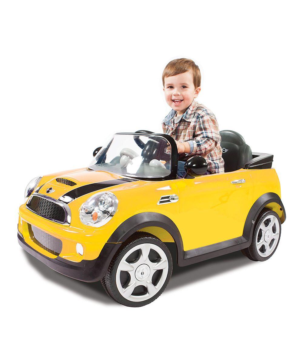 Child toys car  Yellow Mini Cooper RideOn  When We Have Kids  Pinterest  Yellow