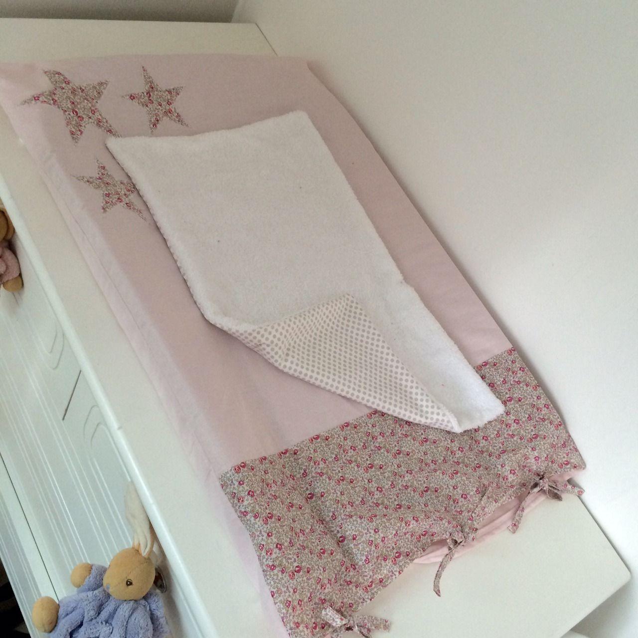 Fabuleux Housse de matelas à langer liberty eloise rose fille by chahome  KY29