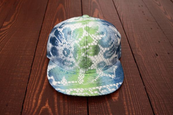 bfa183723202c DIY Baseball Cap- How To Create Snakeskin Print