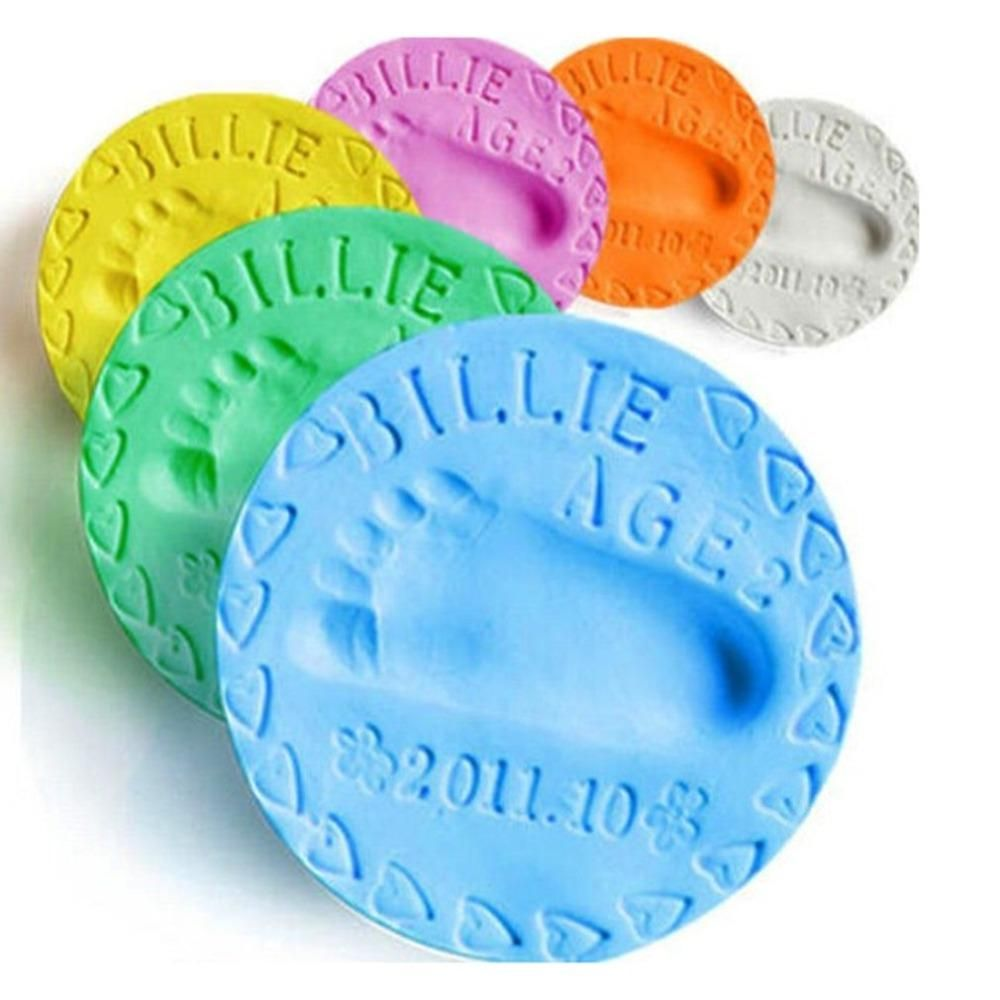 Foot Print Imprint Air Drying Clay Casting Kit Ornament-Gift Cherish Baby Hand