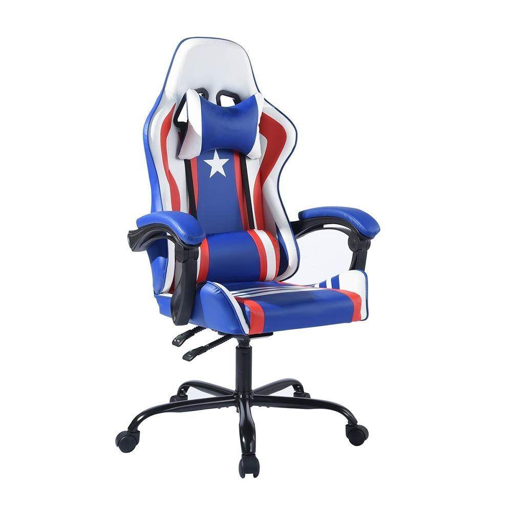 Aingoo Racing Chaise De Bureau Avec Assise Large Chaise Gamer Avec Appui Tete Et Soutien Lombaire Chaise Gaming De Chair Ergonomic Desk Chair Computer Chair