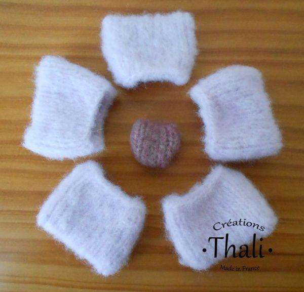 Faire une fleur au tricot | thalicreations | Faire des fleurs, Fleurs tricotées, Tricot