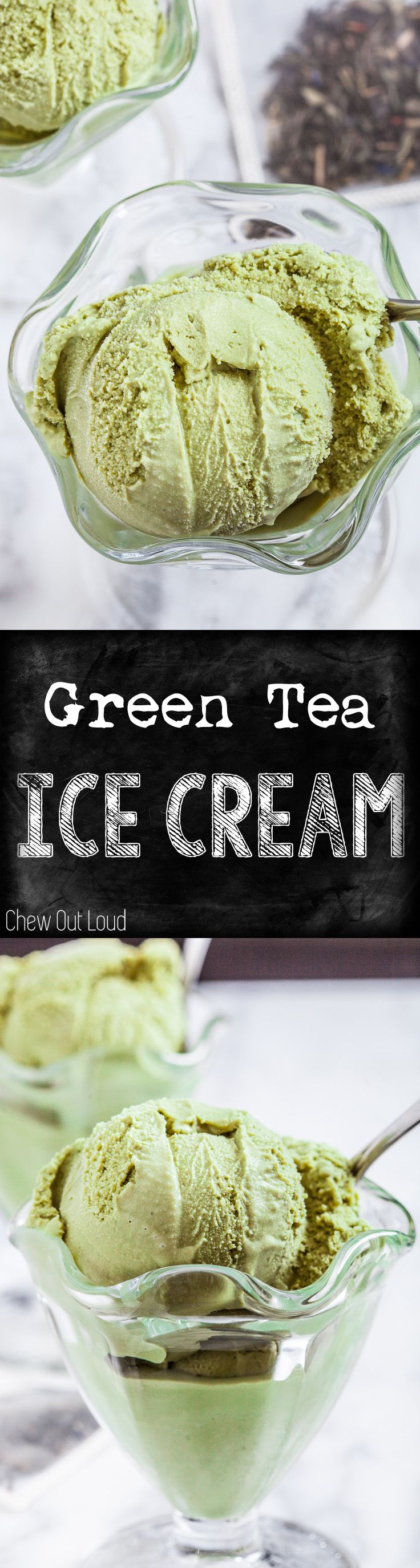 Now you don't have to go out to a restaurant for delicious green tea ice cream. Easy, creamy, yummy. #icecream #dessert #asian
