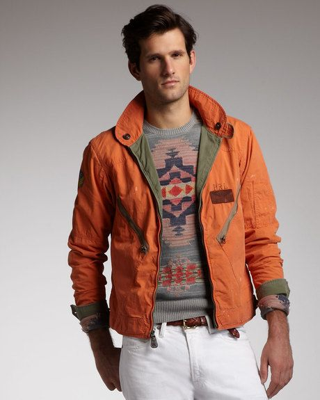 Men's Orange Reversible Flight Jacket | Polo ralph lauren, Polo ...