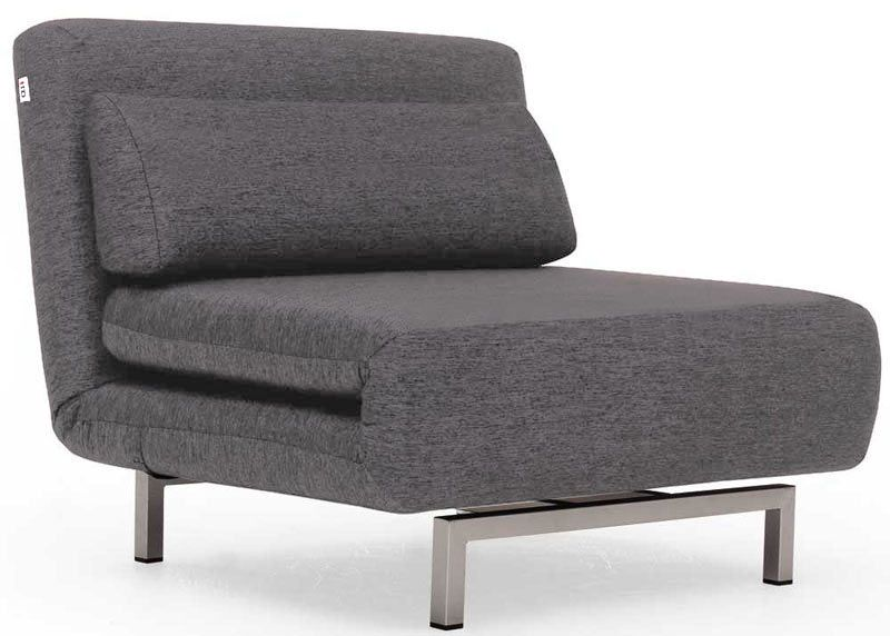 Convertible Chair Bed Lk06 Charcoal Gray Fabric By Ido Chair Bed Foam Sofa Bed Chair Fabric