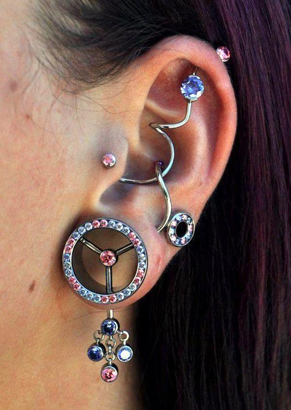 Top 10 Cute Ear Piercing Types and Locations   Cute ear ...