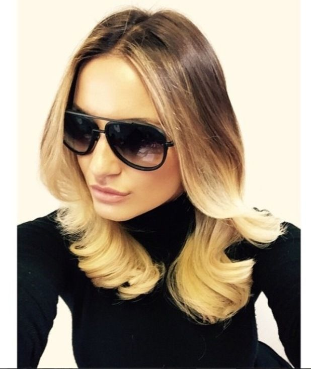 Sam Faiers ditches the extensions for shorter ombre locks!