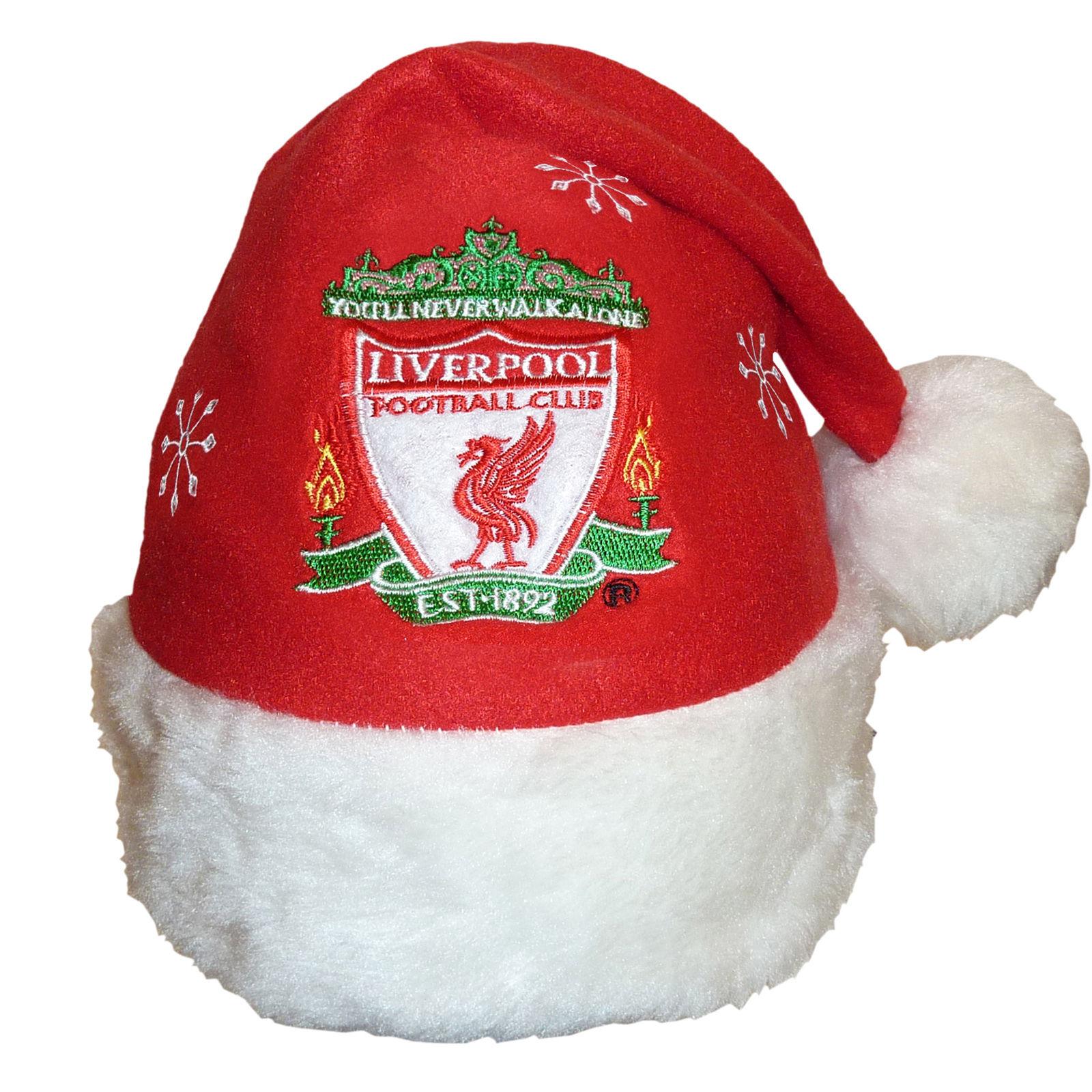 00398b476e5 £3.99 GBP - Liverpool Fc Official Xmas Gift Christmas Santa Crest Beanie Hat   ebay