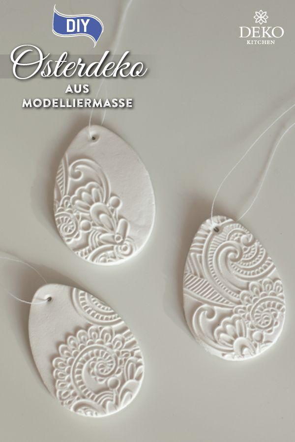 DIY: hübsche Osterdeko aus Modelliermasse selbermachen