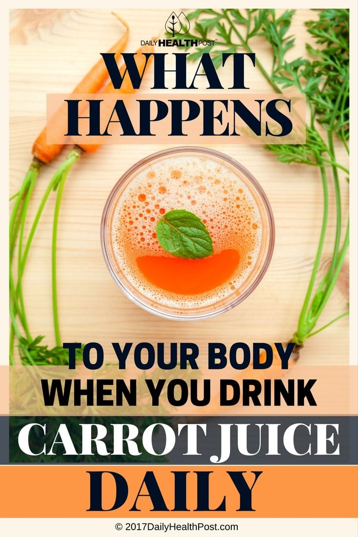 what happens to your body when you drink carrot juice daily
