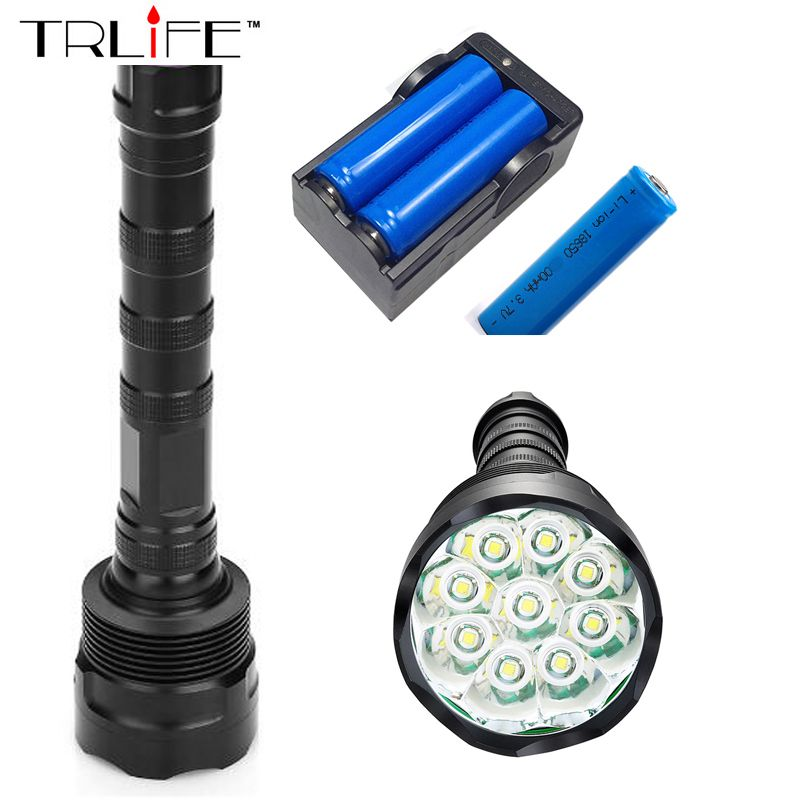 9t6 Torch Led Flashlight 30000 Lumens Lamp Lights 9 Xm L T6 Flash Light Floodlight Camping Lantern Hunting 3x 18650 Cha Flashlight Led Flashlight Lamp Light
