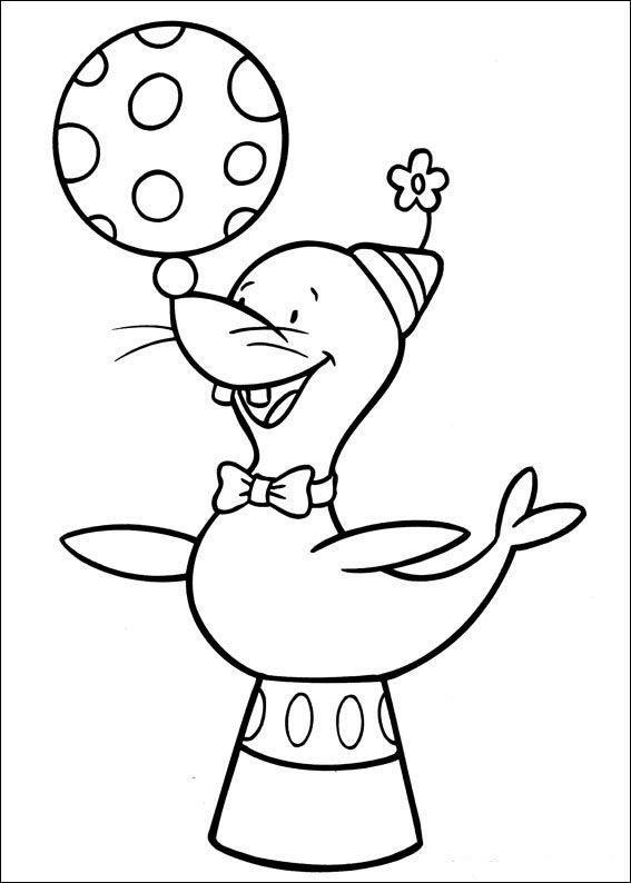 Jo Jo\'s Circus Tegninger til Farvelægning. Printbare Farvelægning ...