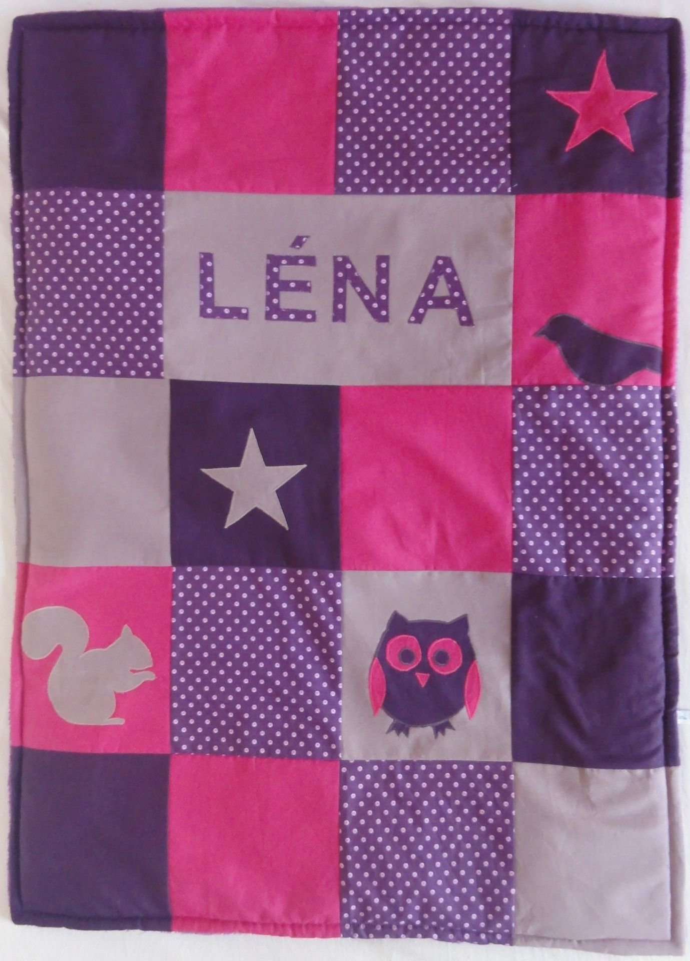 couverture b b patchwork 100 personnalisable id e couture pinterest patchwork quilts. Black Bedroom Furniture Sets. Home Design Ideas