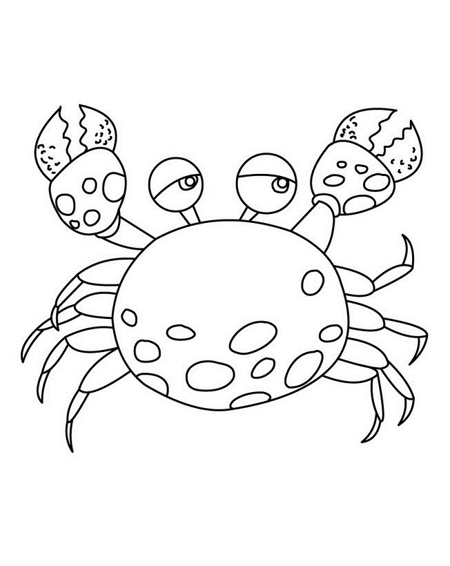 Free Printable Crab Coloring Pages For Kids Cartoon Coloring