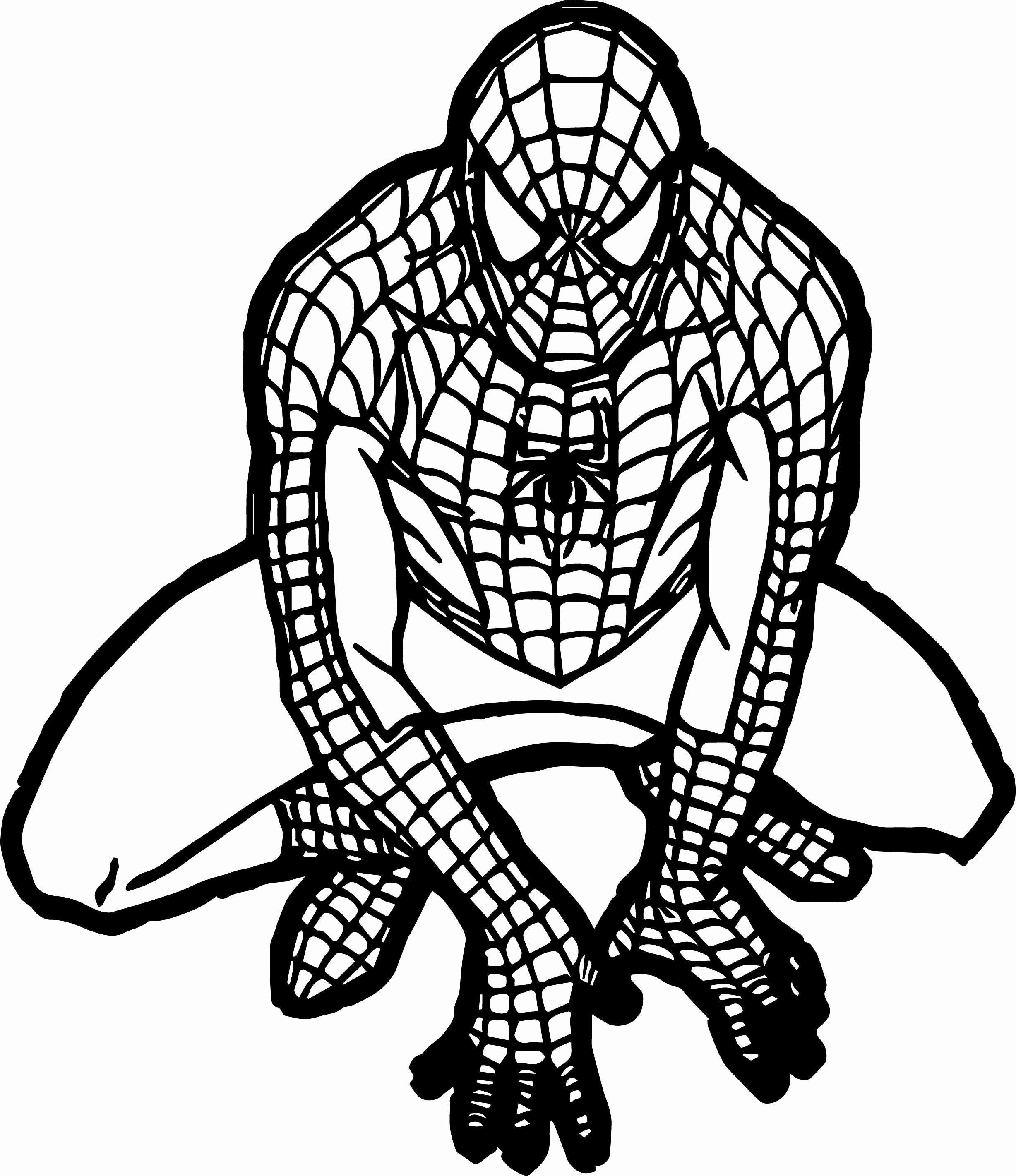 Free Coloring Pages Spiderman Elegant Spiderman Clipart Black And Spiderman Coloring Pages Spiderman Coloring