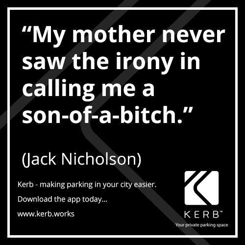 Jack Nicholson Kerb Parking App (With images) Parking
