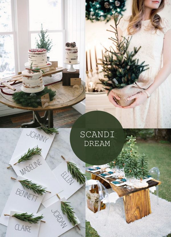 Hot Christmas Winter Wedding Color Palette Ideas