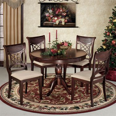 Carwyn Dining Set Rich Mahogany Set Of Five Touchofclass Com