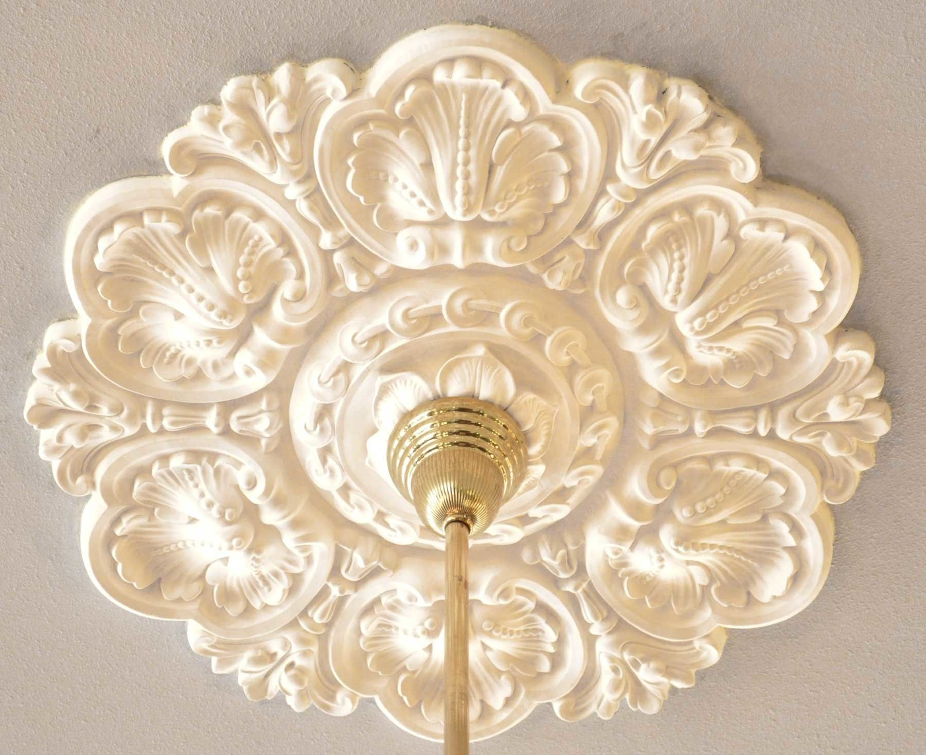 Recreated Acanthus 30 Inch Diameter Real Plaster Ceiling Medallion Zk 15
