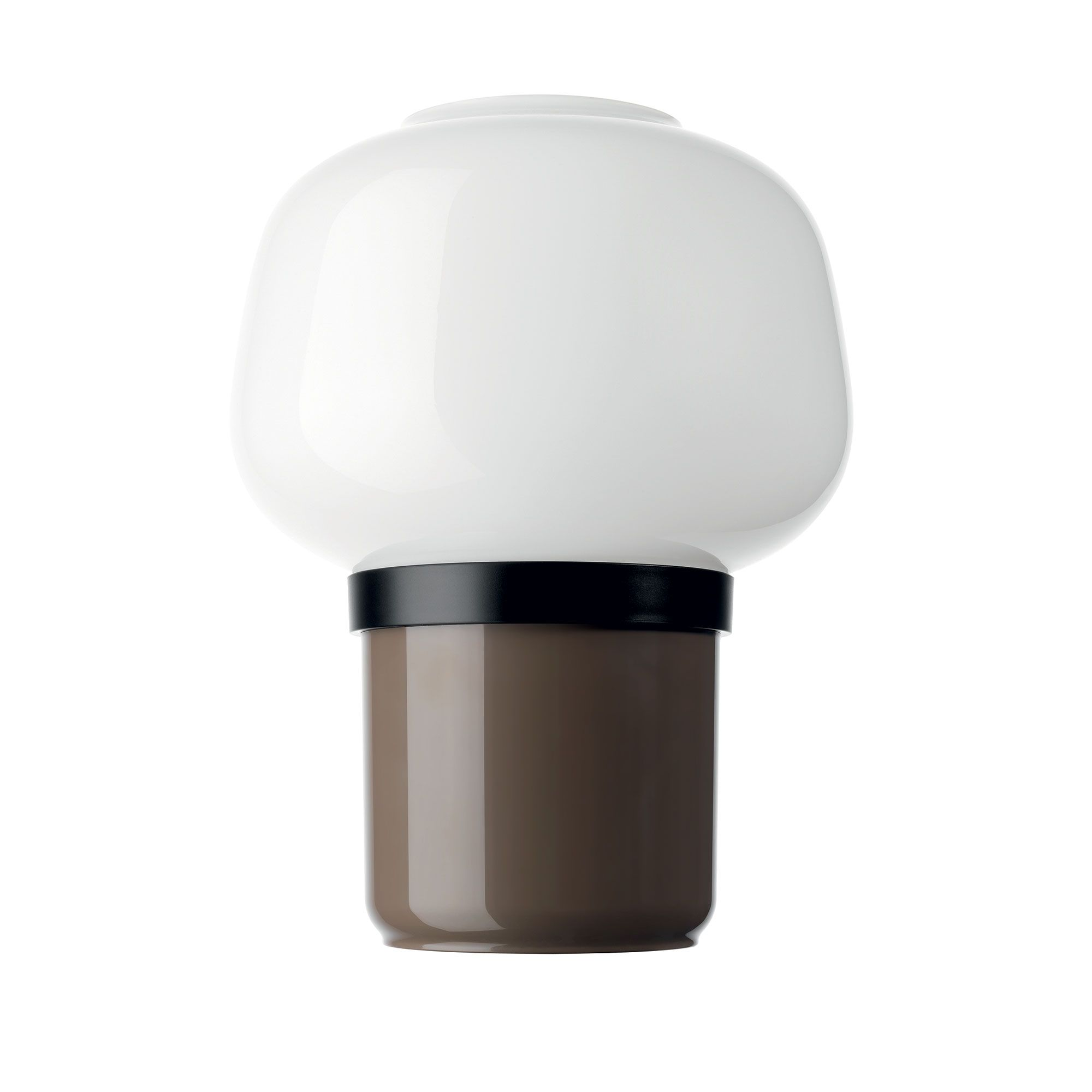 Doll Table Lamp Is A Hand Blown Cased Opaline Glass Diffuser With A Glossy Finish Base Comprising A Double Cup One Made Of Bla Glass Diffuser Lamp Table Lamp