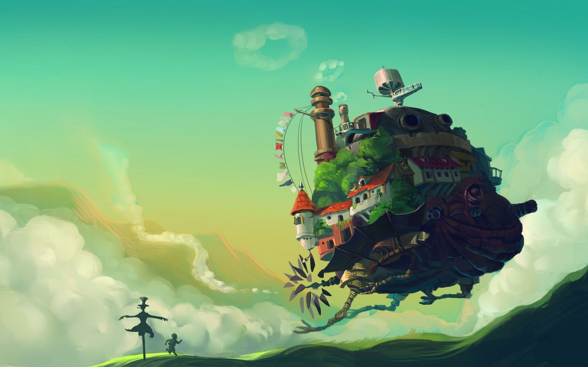 Howl S Moving Castle Wallpapers Hd Free Download Studio Ghibli Background Howls Moving Castle Wallpaper Studio Ghibli Poster