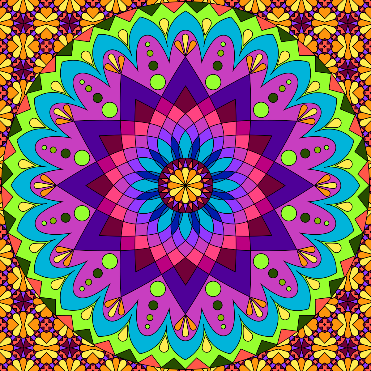 Mandala To Color Mandala Mandala Coloring Coloring Pages