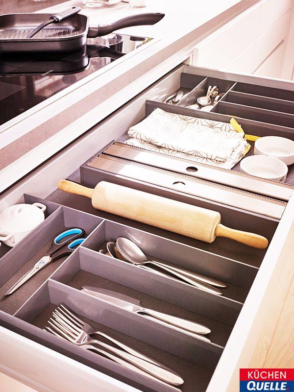 Den Stauraum in der Küche perfekt ausnutzen und alles an einem Ort - www küchen quelle de