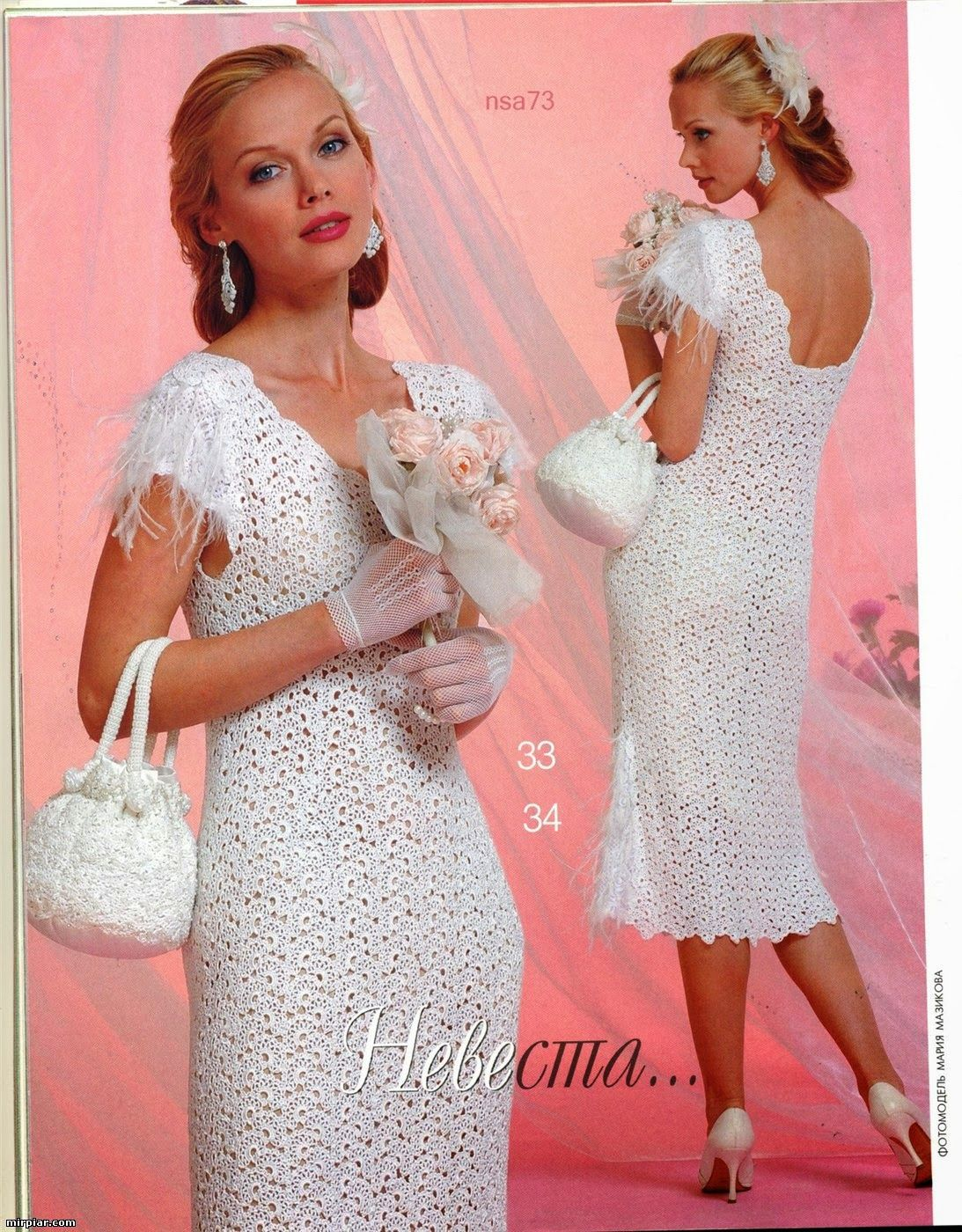 TRICO y CROCHET-madona-mía: Novias Crochet Irlandés Modelos ...