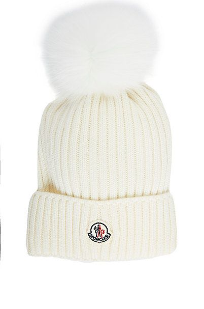 f5508e65e341d4 Moncler Fur Pom-Pom Hat (Kids | Winter Fashion | Fur pom pom hat ...