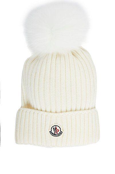 93f6a7acd7f Moncler Fur Pom-Pom Hat (Kids
