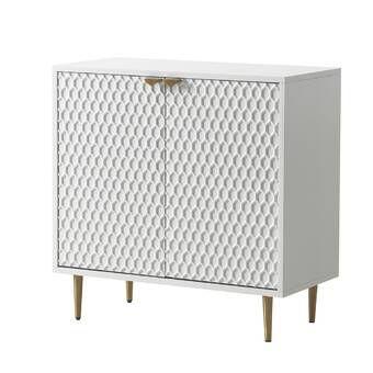 Orren Ellis 2 Door Accent Cabinet Wood In Brown Beige Size Standard 24 42 Wayfair Vozeli Com