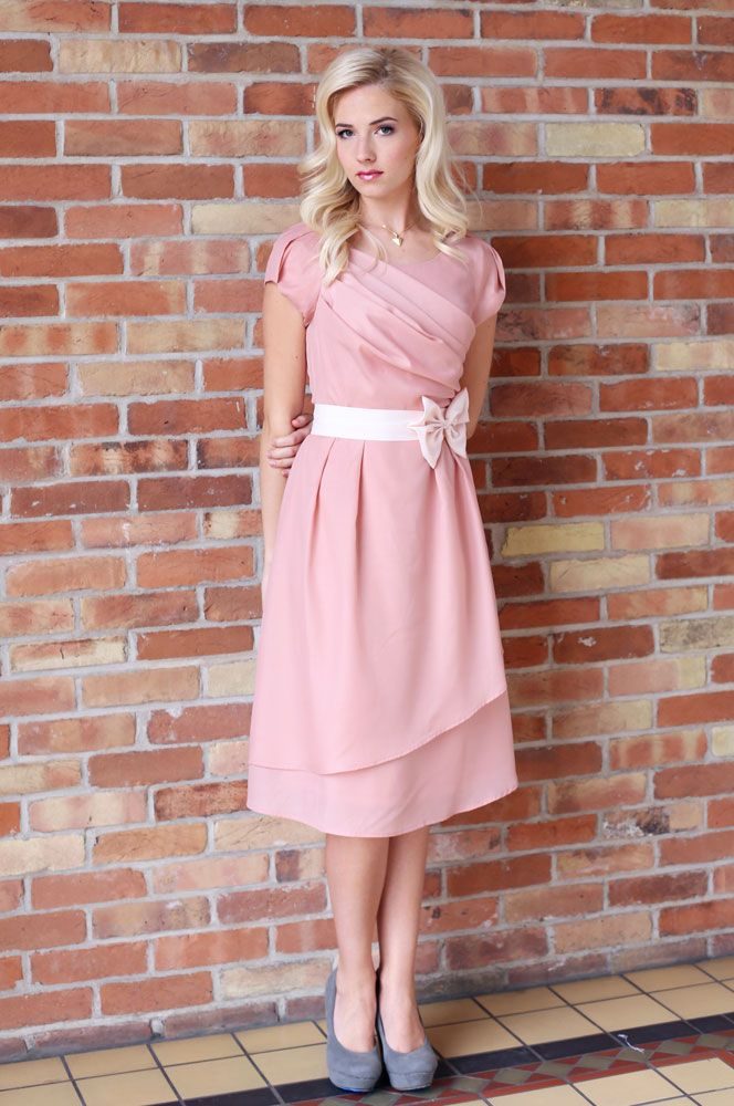 Jasmine Modest Semi-Formal Dress in Pink | Formal dresses | Pinterest
