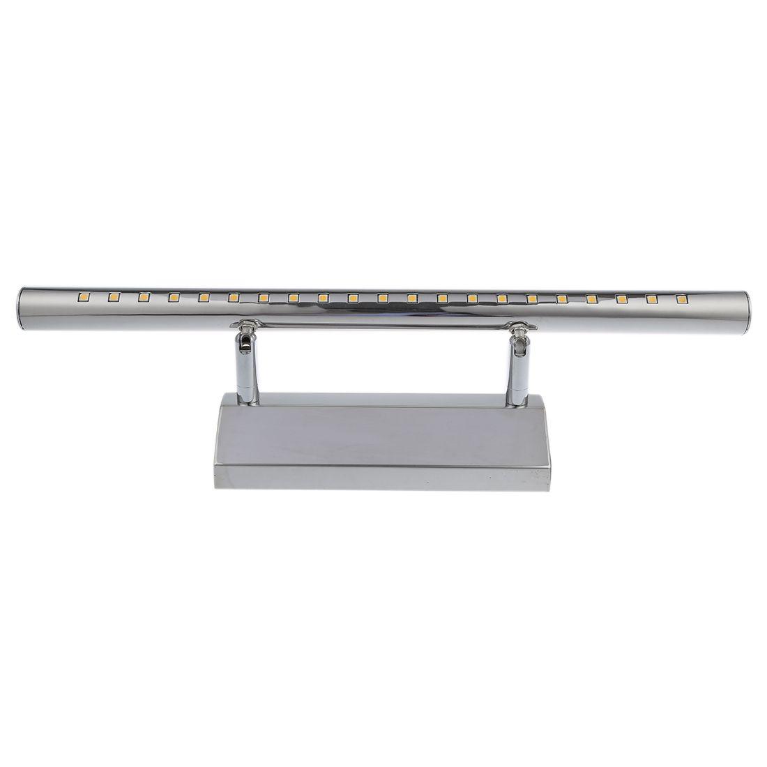 CSS 5W SMD5050 LED a specchio in acciaio inox 21 bagno di luce della ...
