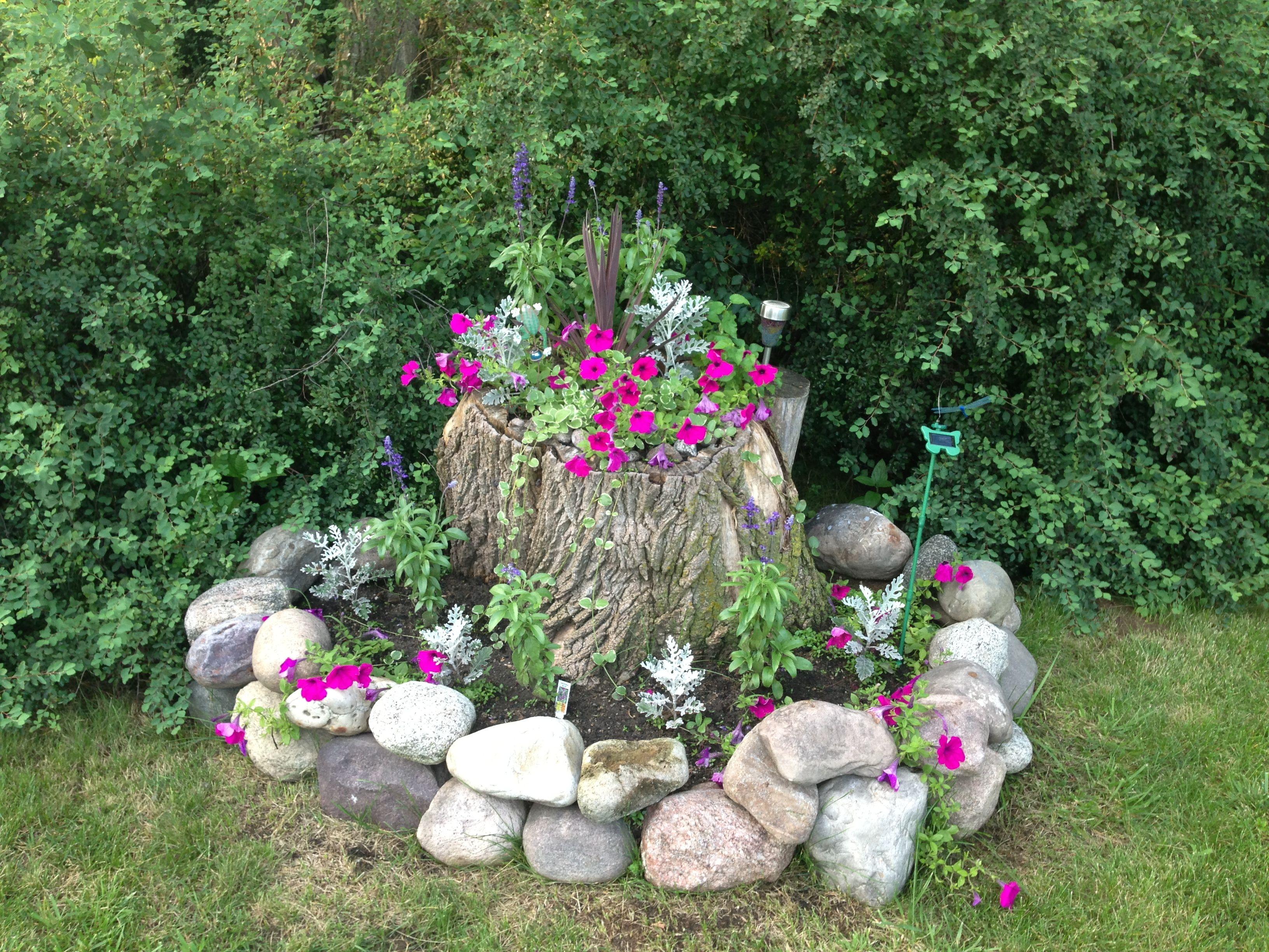 Tree Stump Flower Pot Garden Pots Potted Trees
