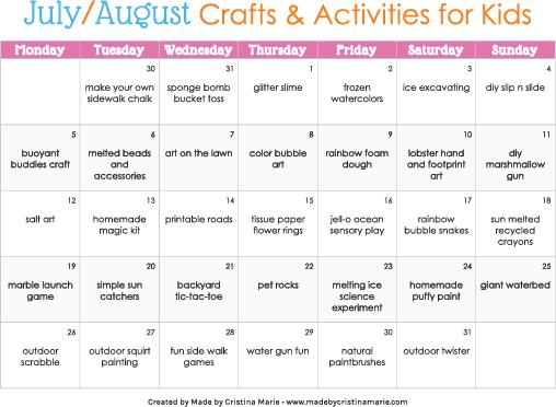 Summer Activities For Kids Summeractivities Summercrafts