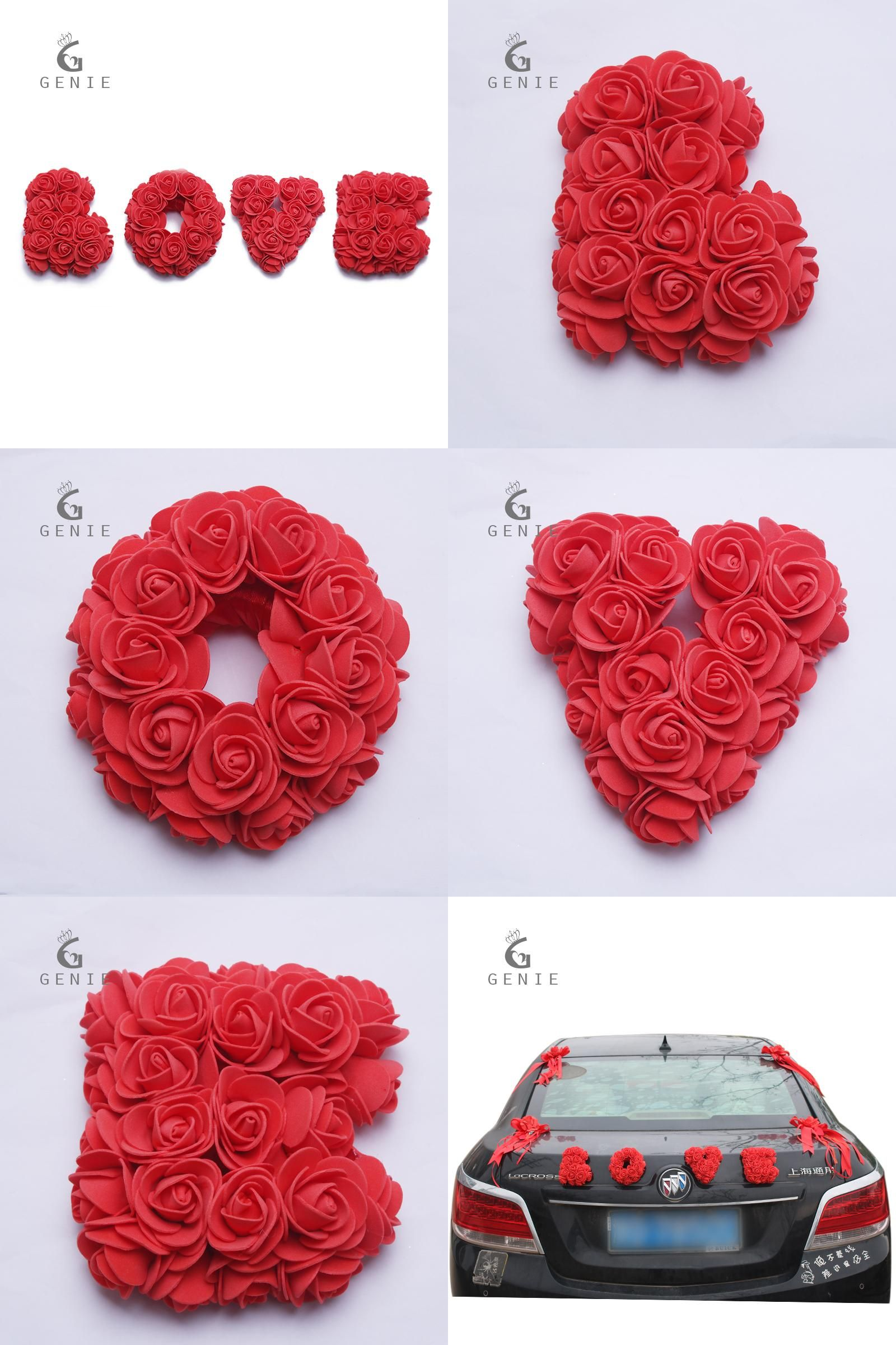 Visit to buy genie rose artificial flowers foam rose cute letter cheap decorative wreath buy quality rose artificial directly from china flower arch suppliers genie rose artificial flowers foam rose cute letter love diy izmirmasajfo Choice Image
