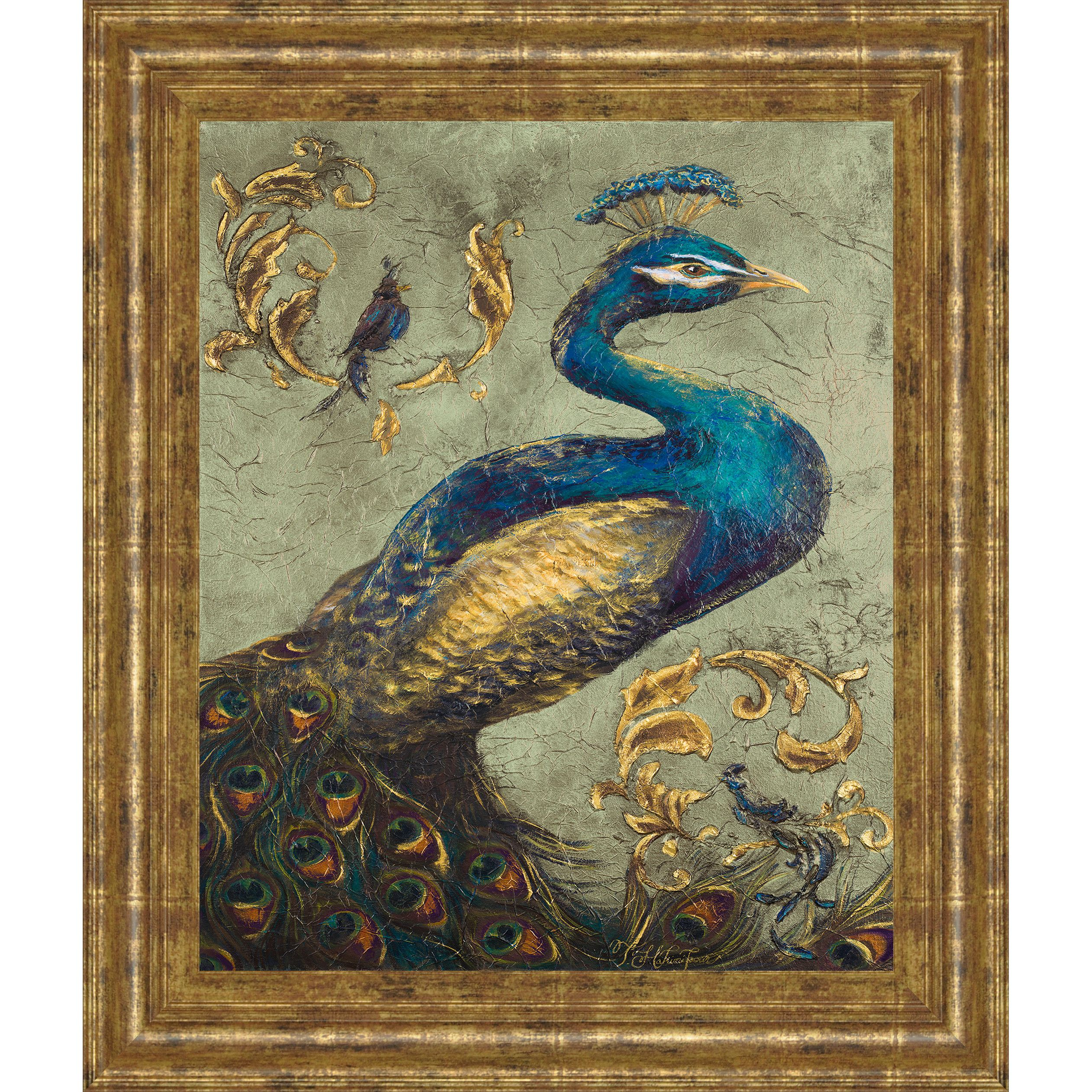 Peacock-on-Sage-I-by-Tiffany-Hakimipour-Framed-Wall-Art-8017.jpg (2522×2522)