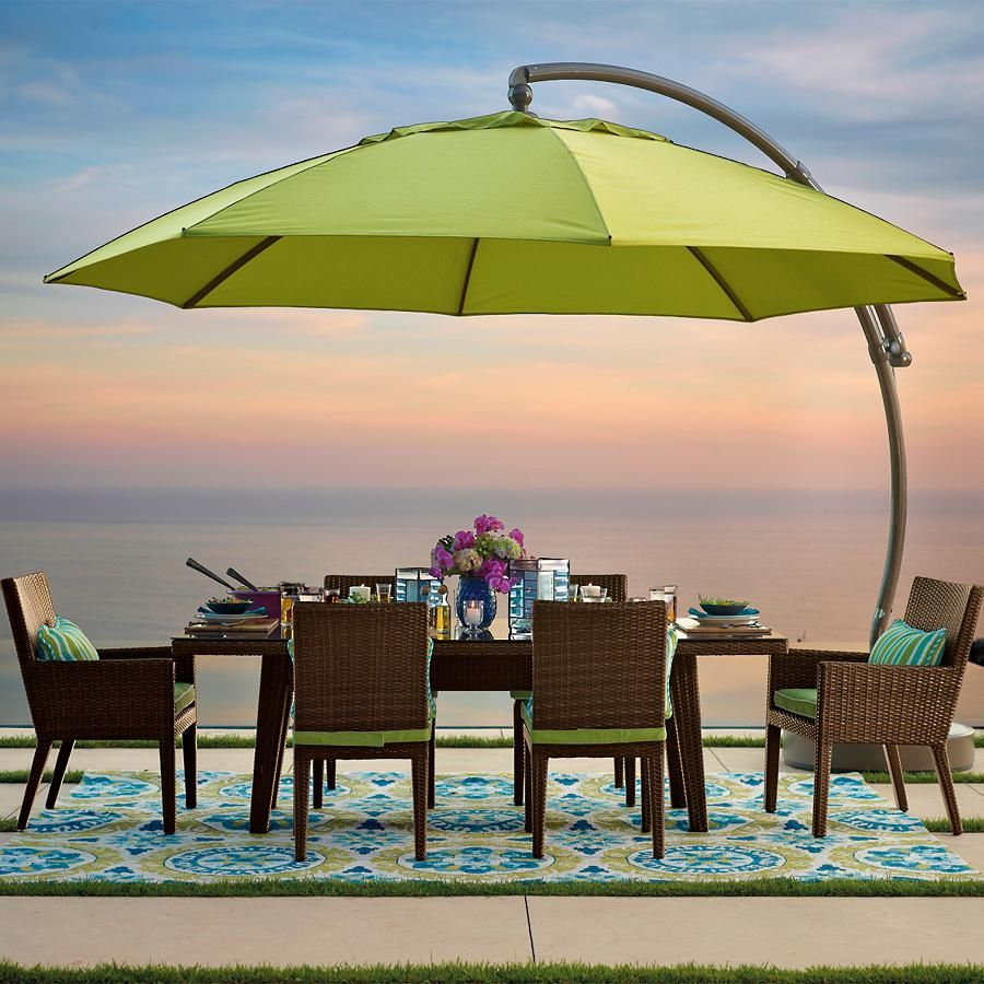 European Round Side Mount Umbrella Frontgate Patio Umbrella Patio Patio Umbrellas