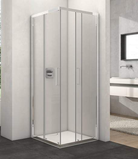 Angebot #Provex #Arco Duschkabine #Eckig mit Schiebetüren 90x90 cm - schiebetür für badezimmer