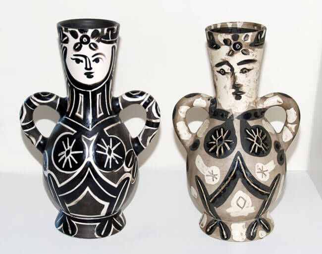 View Details Of Pablo Picasso Vase With Two High Handles Set Of