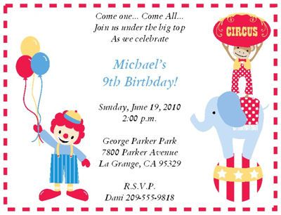 Birthday Party Invitations Free Funny Clown Birthday Party
