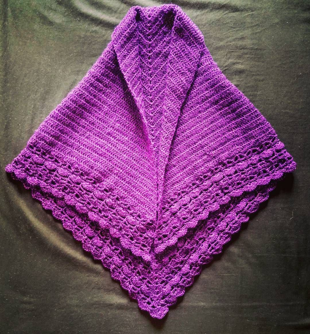 Lace Shell Edged Shawl Crochet Project Complete Relentlessly