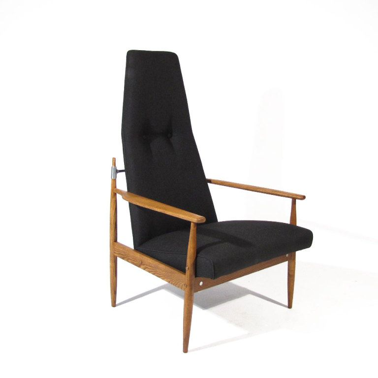Jens Quistgaard; Oak and Chromed Steel Armchair, 1960s.