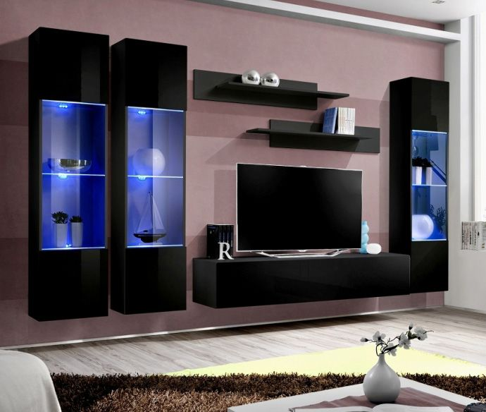 Idea D9 Tv Stand For 75 Inch Tv Modern Tv Wall Units Living Room Wall Units Living Room Tv